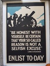 Original WWI recruitment poster - Lord Kitchener - 'Be Honest with Yourself'
