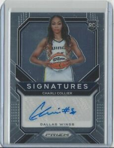 2021 WNBA PANINI PRIZM * CHARLI COLLIER * SIGNATURES AUTOGRAPH * ROOKIE * CARD