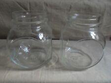 Ancien - 2 bocaux en verre SISA Bocal à bonbons, confiseries