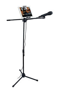 Spectrum AIL TM Adjustable Tablet Stand with Microphone Boom