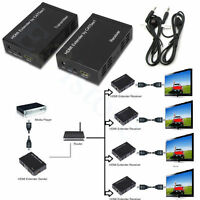 328ft HDMI Extender Repeater TCP/IP HDMI Splitter HDCP Pass  rj45 Network Cable