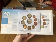 SERIE 10 MONETE IN EURO 2017 OFFICIAL COIN SET 5 EURO ARGENTO TRATTATI ROMA