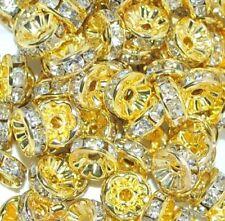 Rhinestone White Jewellery Making Beads