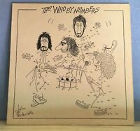 THE WHO The Who By Numbers LP 1975 UK Vinyl LP numbered  EXCELLENT CONDITION  A