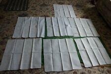 More details for large napkins - set of seven assorted vintage white linen damask