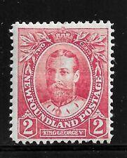 HICK GIRL- MH. NEWFOUNDLAND STAMP  SC#105  1911   GEORGE V      I187