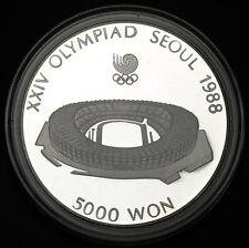 1987 Korea-South 5000 Won  Sterling Silver Seoul Olympiad Gem Proof