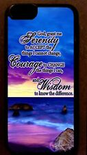 SERENITY PRAYER inspirational beach CELL PHONE CASE celphone cover for mobile