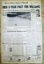 2 1969 newspapers WASHINGTON NATIONALS hire TED WILLIAMS as manager for $65,000