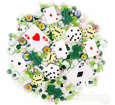 POKER SET 10 Cabochons + 15g Rhinestone Pearl Set Kit DIY Deco Kawaii Craft