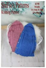 Knitting Pattern for Baby Sleeping Bag Cocoon Papoose #358 Not Clothes