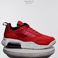 Jordan Max 200 Men Lifestyle Sneakers Shoes New Fire Red Black Sail CD6105-601