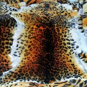 Australia Sheepskin Leopard Print Area Rug Leather Hide Bedroom Sofa Wall