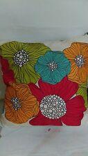 "Deny Design Kaui Blooms Multi Colored Floral 20"" x 20"" Decorative Pillow"