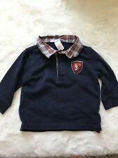 janie and jack 6-12 months boy Long Sleeve Blue Plaid Collar Shirt
