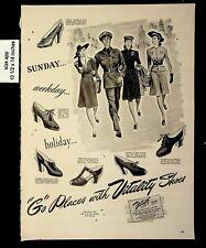 1942 Go Places Vitality Shoes Vintage Print ad 8699