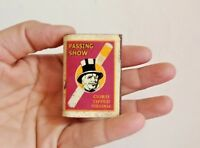 OLD VINTAGE PASSING SHOW CIGARETTES MATCH COVER ADVE  USA T1