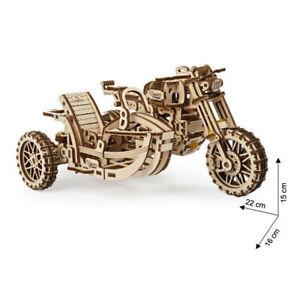 Ugears - Wood Model Scrambler UGR-10 Bike Motorcycle With Sidecar 380 Pieces