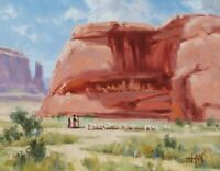 TOM HAAS (b1952) 'Anasazi Homeland' oil 11x14 Four Corners Western Colorado Utah