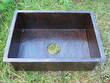 Copper Rectangular  Kitchen Sink 30x20x8 Exclusive Dark Patina Finish