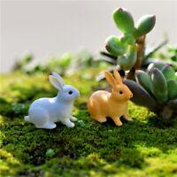 Kaninchen Ornament Miniatur Figur Fee Garten Dekor Dekoration Micro-Landsch U1X9