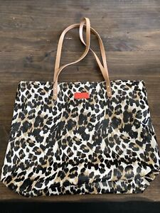 Bath & Body Works animal print Tote Bag Leopard Purse Limited Edition red tag