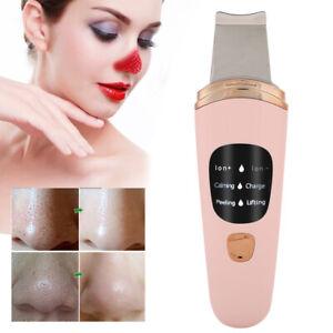 Face Skin Care Scrubber Vibration Peeling Machine Ultrasonic Exfoliating Cleaner
