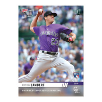 Peter Lambert - MLB TOPPS NOW Card 341 9 K'S MLB DEBUT COLORADO ROCKIES 6/6/19