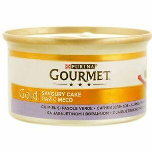 Purina Gourmet Gold Adult Wet Dog Pet Food Lambs Green Beans Savoury Cake 85g