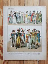 French Costume - c1800 - Fashion History, Original Print, Art, Military uniforms
