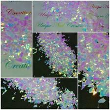 Solvent-Resistant MEDIUM&LARGE MYLAR~Unicorn Rainbow EFX-Acrylic Nails-Gel Nails