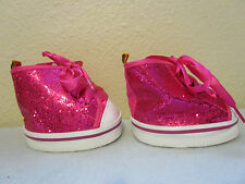 Build a Bear Cute Pink Lace up Sparkle Girls Shoes (S3/32)