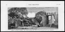 1880 Antique Print HEREFORDSHIRE RAILWAY BRIDGE TRAIN ACCIDENT MIDLAND LINE(295)