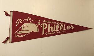 Vintage Go-Go Phillies Pennants 1964 National League Champions