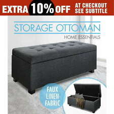 Unbranded Polyester Black Ottomans, Footstools & Poufs