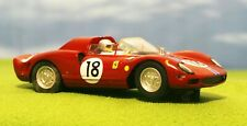CARRERA - FERRARI 365 P2 - BURGUNDY #18 RACING - SLOT CAR 1/32 SCALE