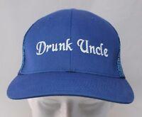Drunk Uncle Trucker Cap Hat Blue Flex Fit Size 7-3/8