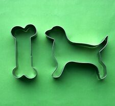 Dog bone dogbone baking biscuit cookie cutter metal mold set 2pcs