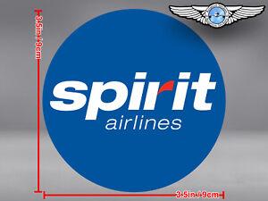 SPIRIT AIRLINES LOGO ROUND STICKER / DECAL