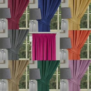 MONTREAL - LUXURY SUPER SOFT VELOUR PENCIL PLEAT LINED DOOR CURTAINS