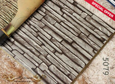Wallpaper 3D Grey White Red Brick STONE Natural Color Slate outdoor rustic look