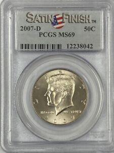 2007-D Kennedy Half Dollar PCGS  MS69 Satin Finish