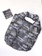 Eco Foldable Fashion Shopping Tote Bag U.S. Seller black & white