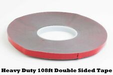 108ft Heavy Duty Double Sided Adhesive Tape 1/2 inch Super Sticky Roll for Car