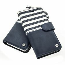 Qiotti sac + blindée h9+hd housse case samsung Galaxy s7 Edge Line bleu