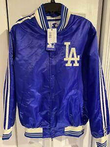 Starter MLB Los Angeles Dodgers Originator Satin Jacket Royal Blue Size Small