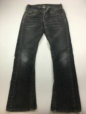 MENS TRUE RELIGION GREY CORDED JEANS TROUSERS SECTION COREY size 28 BOOT CUT USA