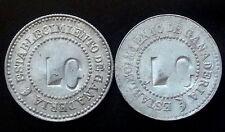 "URUGUAY LOT 2 ANTIQUE RURAL CATTLE ESTABLISHMENT TOKENS WITH INITIALS: ""LC"""