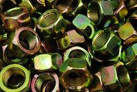 (30) 7/8-14 Grade 8 Hex Finish Nuts - Yellow Zinc Plated - Fine Thread