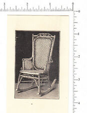 4742 Wakefield Rattan trade card wicker furniture chair baby carriage basket rug
